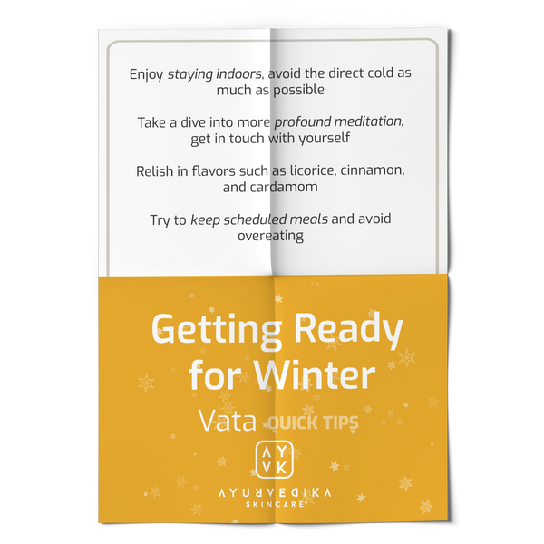 Vata Dosha: Quick Tips on Getting Ready for Winter