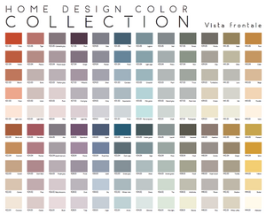 HOME DESIGN COLOR COLLECTION – 120 Tinte (@2020 Covema) - ColorSample - Foglietto singolo colore - Formato (23 x 15 cm) – 444.x (01-05)
