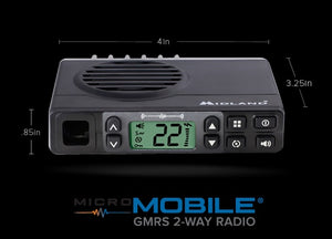 Midland MXT105 5W GMRS Micro Mobile Radio with Antenna