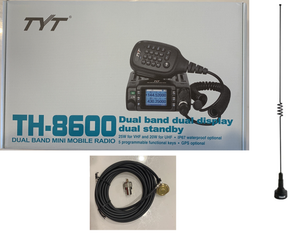 Waterproof 25W Dual Band Radio with Dual Band Antenna