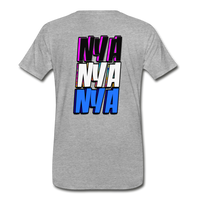 NYA Back Logo Tee - heather gray