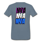 NYA Back Logo Tee - steel blue
