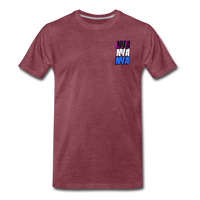 NYA Back Logo Tee - heather burgundy