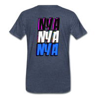 NYA Back Logo Tee - heather blue