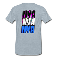 NYA Back Logo Tee - heather ice blue