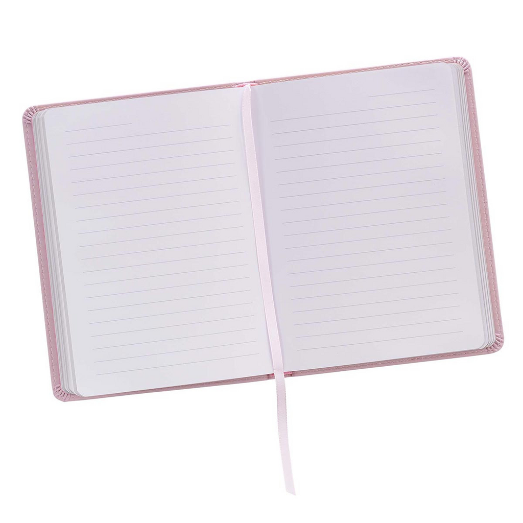 Be Grateful Handy-sized Faux Leather Journal in Pink