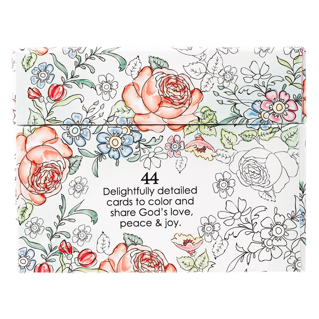 Colorful Blessings Coloring Cards
