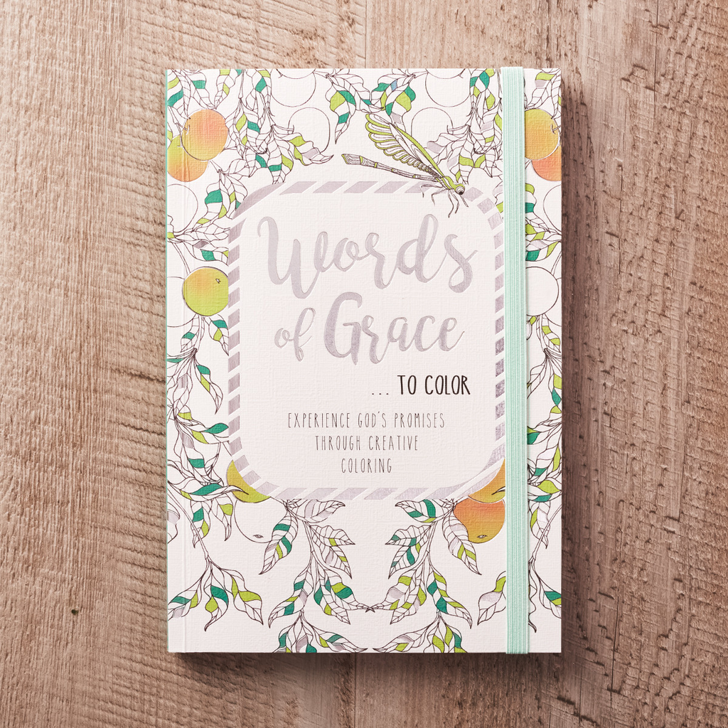 Words of Grace to Color Coloring Book