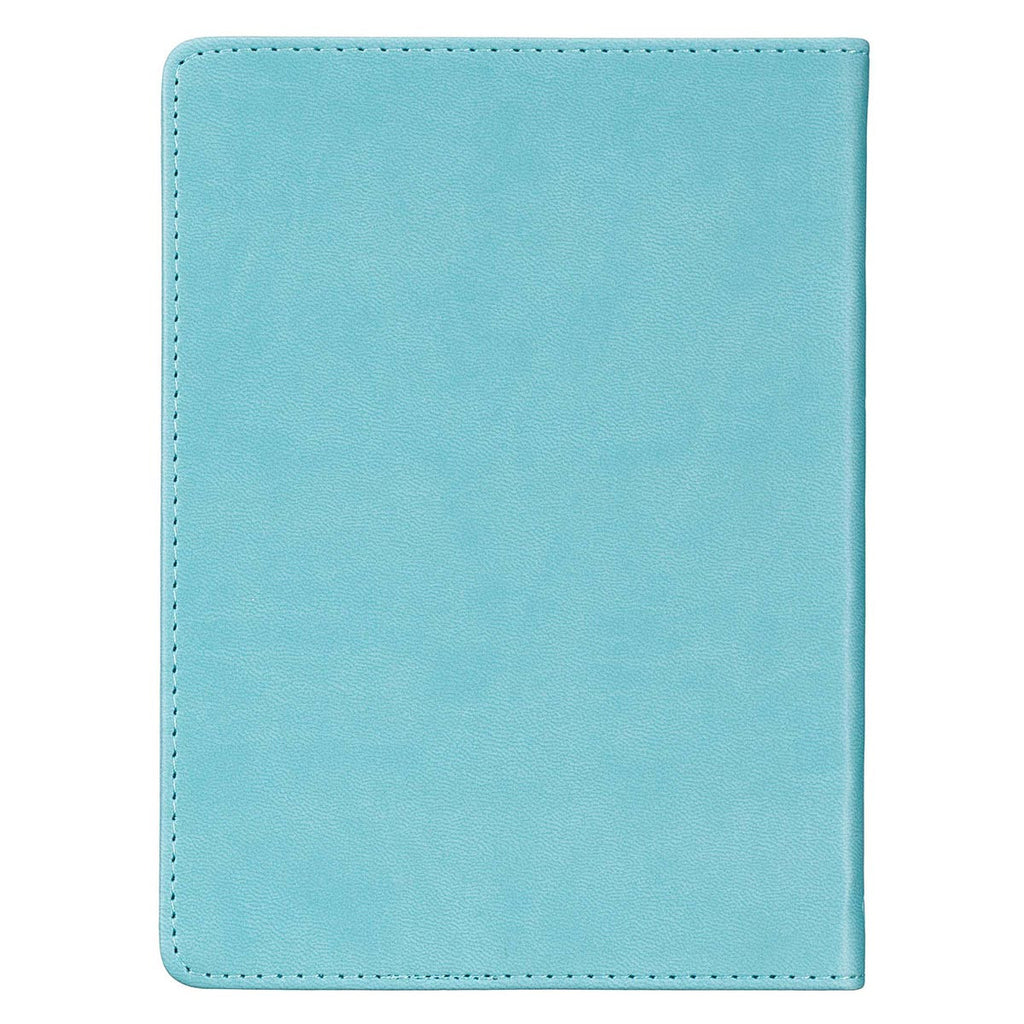 Be Joyful Handy-sized Faux Leather Journal in Teal