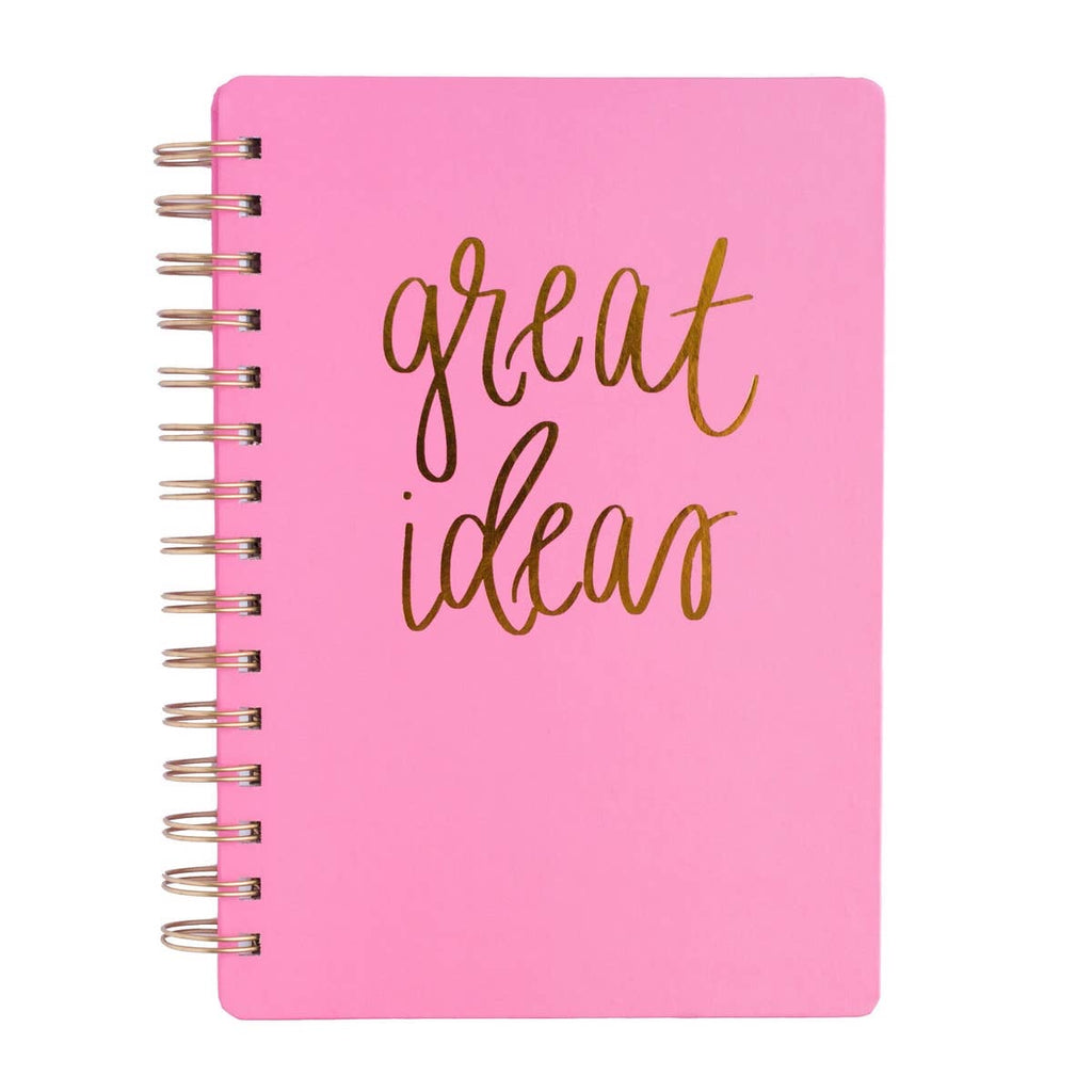 Great Ideas Pink Spiral Bound Journal