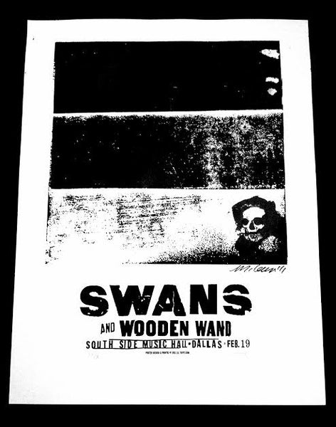 SWANS - DALLAS - POSTER (SOLD OUT)