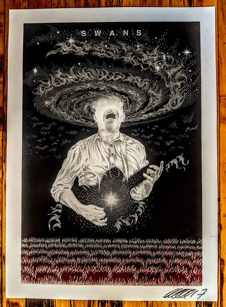Swans / M. Gira Art Print (Sold Out)