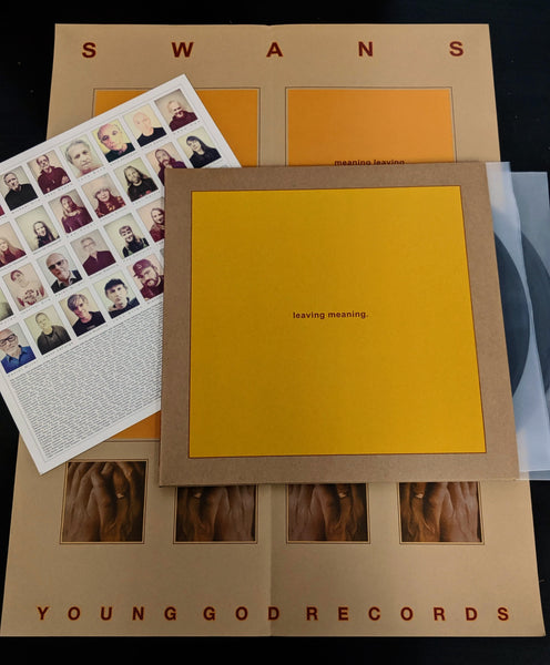 leaving meaning. 2LP w/ poster and insert