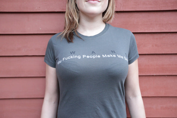 SWANS - YOU FUCKING PEOPLE MAKE ME SICK - SHIRT