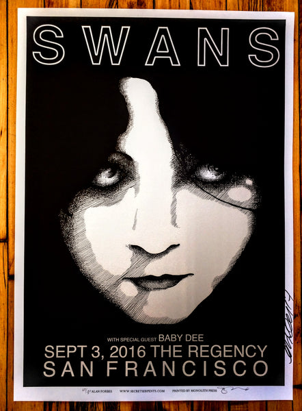 Swans - San Francisco Poster (sold out)