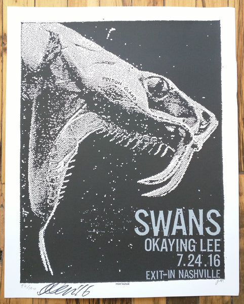 SWANS - Nashville Poster (sold out)