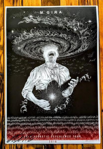 M. Gira 2016 Solo EU Tour Poster (sold out)