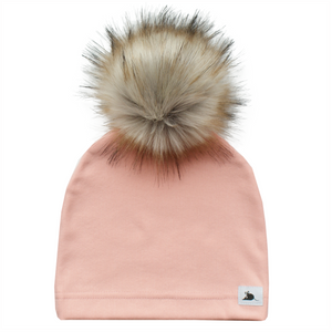 BLUSH FLEECE POM