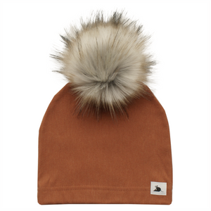 RUST FLEECE POM