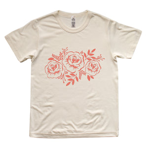 FLORAL CREAM TEE
