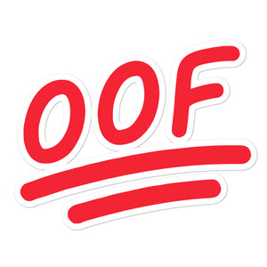 """OOF"" Stickers Mock-up Image"