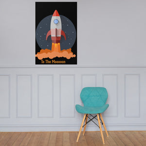 "J&M Option Trading ""To The Mooooon"" Poster"