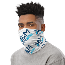 "Load image into Gallery viewer, J&M Option Trading ""J&M Logo"" Neck Gaiter Side View"