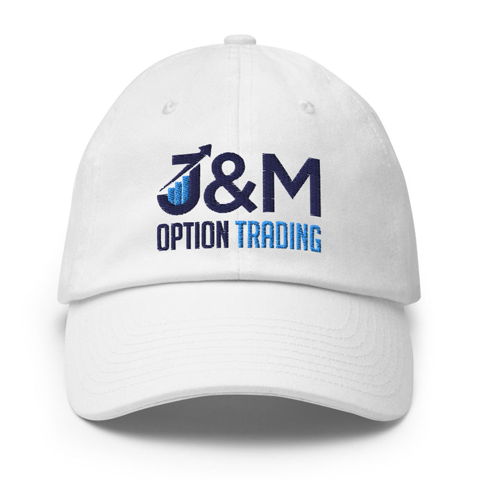 J&M Option Trading Baseball Hat White Color with