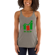 "Load image into Gallery viewer, J&M Option Trading ""Buy The Dip"" Grey Color Women's Racerback Tank"