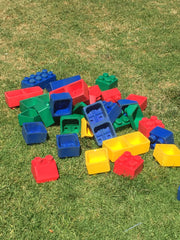 giant games hire for children's entertainment in Adelaide at Events and parties giant lego with yard games for kids
