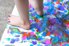 messy play and art and craft classes and workshops for kids in Adelaide with painting, making