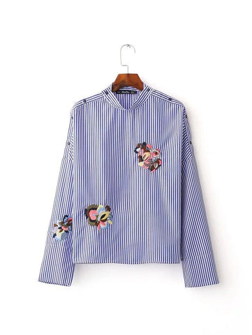 Shirt with Embroidery Motif