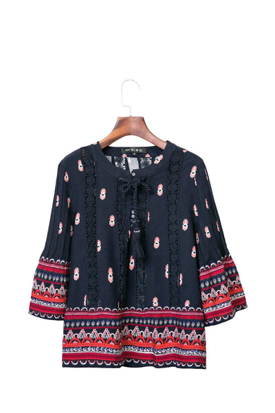 Paisley Blouse with Crotchet Detail
