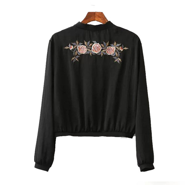 Pullover with Floral Motif