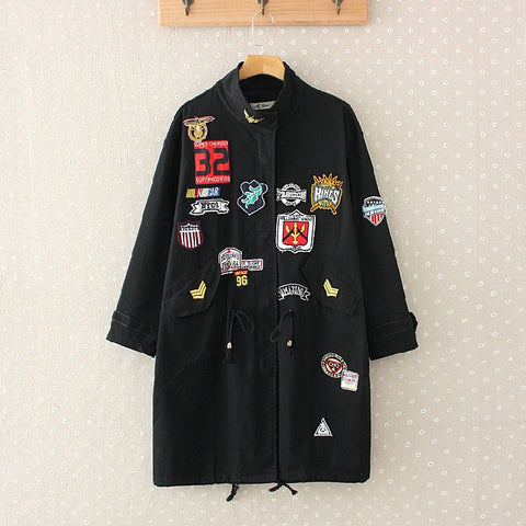 LM+ Long Jacket with Badge