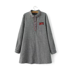 Casual Gingham Dress