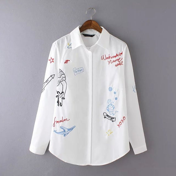 Embroidered Graffiti Shirt