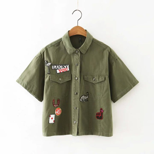 Military Shirt with Badge