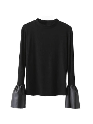 Top with Combination Sleeves