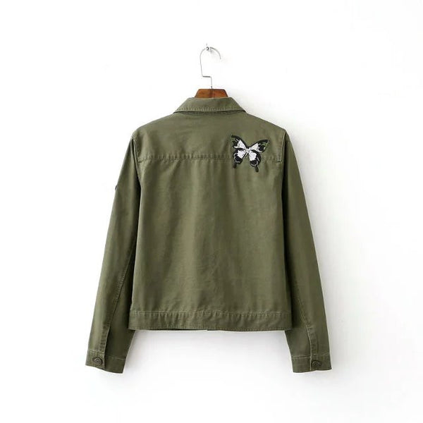Military Inspired Jacket with Badge