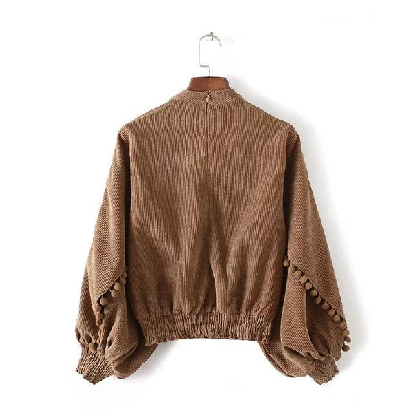 Choker Sweater with Tassel (2 Color)
