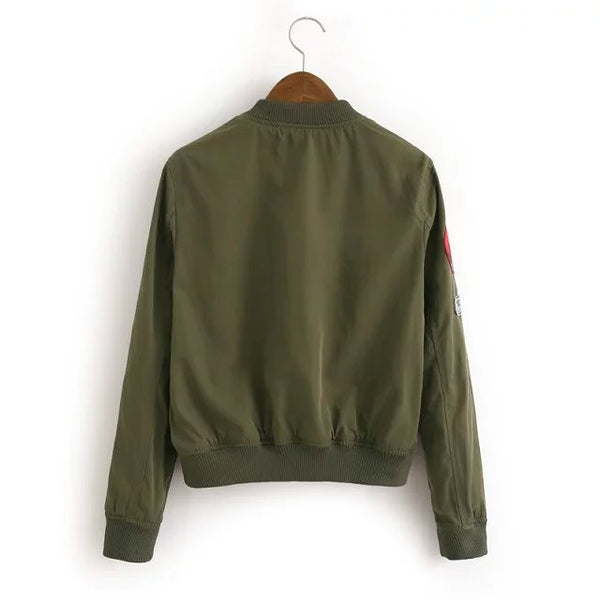 Bomber Jacket with Badge