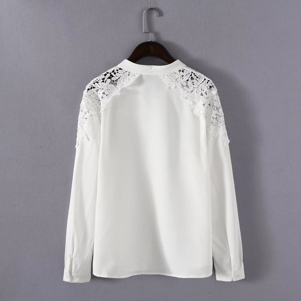 LM+ Lace Combination Shirt (2 Color)