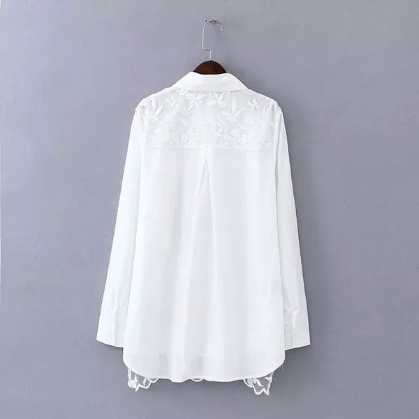 LM+ Lace Combination Blouse