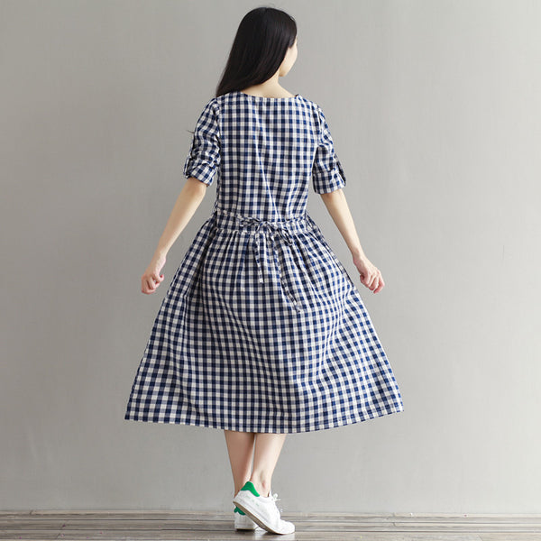 Checkered  Dress (2 Colors)