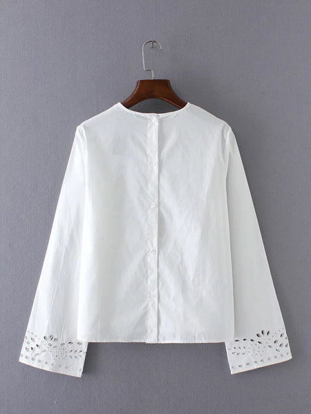 Blouse with See-Through Detail