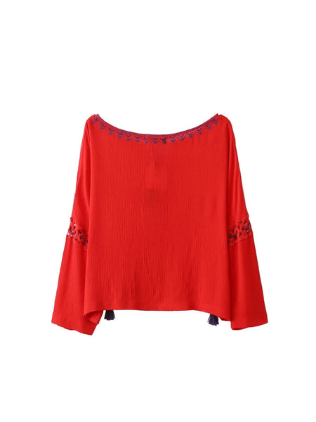 Embroidery Blouse (2 Color)