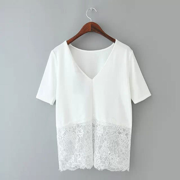 Lace Combination Top (2 Color)