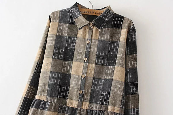 LM+ Checkered Tunic (3 Color)