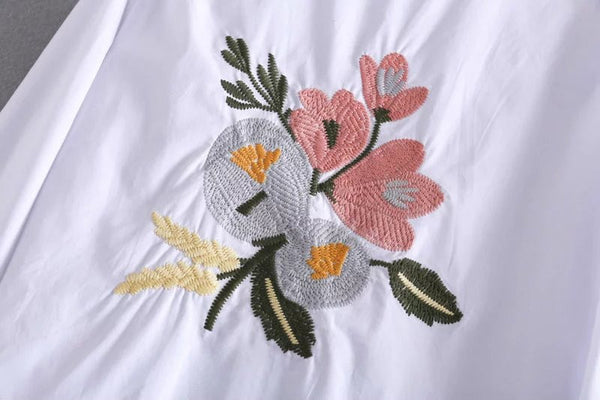 Floral Back Embroidered Top